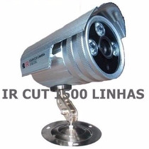 Câmera Infra Vermelho 3 Leds Ccd Sony 1500 Linhas + Fonte