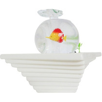 Fonte De Agua Cascata Aquario Mini Peixe Decorativa Ceramica