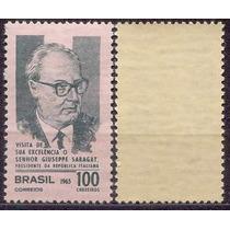 Brasil Selo Visita Pers.italia 1965 Marmorizado, Novo Mint.