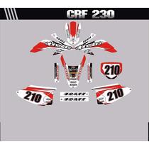 Adesivos Gráficos Personalizados Moto Crf 230 Cola 3m