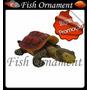 Enfeite Aquario Resina Soma Action Cágado Fish Ornament