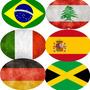 Adesivos De Bandeiras De Países Formato Oval - Carro E Moto.