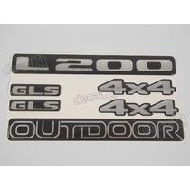 Kit Adesivos L200 Outdoor Gls 4x4 Resinado. - Decalx