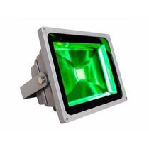Refletor 30w Led Verde Holofote Bivolt Prova D´ Água