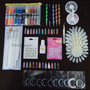 Kit Decoração Unhas Nail #1, Esmalte 3d, Glitter, Strass