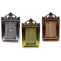 Kit 3 Porta Retratos Clássicos Dourado Prateado Cobre 10x15