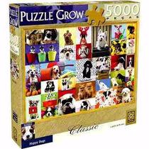 Quebra Cabeça Happy Dogs Puzzle 5000 Peças Grow Novo Lacrado