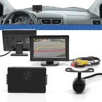 Sensor Estacionamento Para Carro Ré 4 Pontos Wireless Lcd