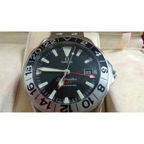 Relógio Omega Gmt 50 Anos Seamaster 300m Completo