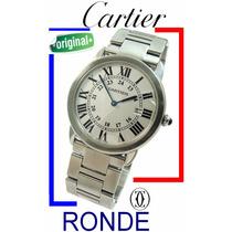 Elegante Cartier Ronde Solo Aço-aço 36 Mm Moderno !