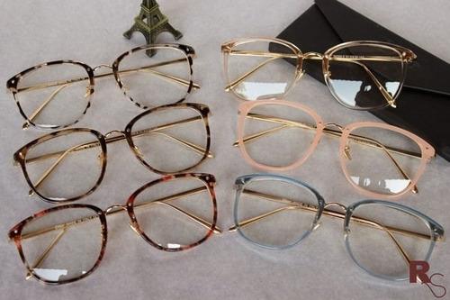 Óculos Armação De Grau Feminino Redondo Geek Metal C  Brinde 38d125f210