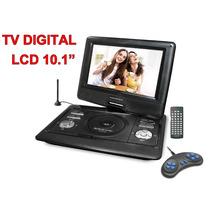 Dvd Portátil Powerpack 1065 Tv Digital + Jogos Tela 10,1¨
