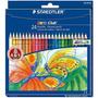 Estojo Lápis 24 Cores Staedtler Noris + 2 Blocos Desenho