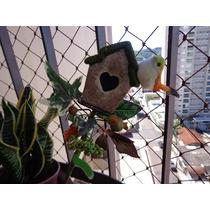 Enfeites Para Vasos É Jardins Casinha Com Passaros