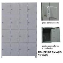 Roupeiro De Aço 4 Vãos Com 16 Portas Grp 8/16 Tsmob Campinas