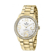 Relógio Champion Passion Dourado C/ Strass Ch24464h
