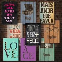 Placas Decorativas Mdf - Frases - Motivacionais - Divertidas