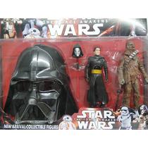 Bonecos Star Wars- Kit Kylo Ren Chewbacca + Máscara Vader