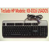 Teclado Hp Preto Prata Mod:kb0316 - Leia Com Atenção Usados.
