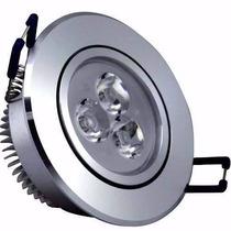 Kit Spot Aluminio Teto 10 Lampadas Led 3w Branco Frio 6000k