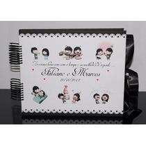 Álbum Fotos Scrapbook Casal Namorados Personalizado C/ Nome