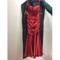 Promoção!!! Vestido Vermelho Sereia Arthur Caliman P