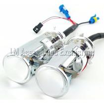 Mini Projetor H4 Retrofit Sem Abrir Farol Bi Xenon 6000k