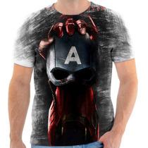 Camisa Camiseta Capitão America Homem De Ferro Civil War 06