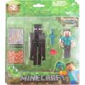 Minecraft, Steve E Enderman + 4 Acessórios Kit 2 Boneco Jog
