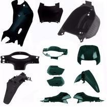 Kit Plastico Carenagem Completa P/ Biz 100 Ano 2000 Verde