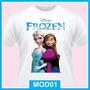 Camiseta Infantil Feminina Frozen, Elsa, Anna De 1 A 12 Anos