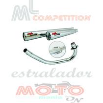Escapamento Estralador Ml Competition Biz 100 Honda