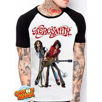 Camiseta Raglan Aerosmith Hard Rock Blues Steven Tyler 3