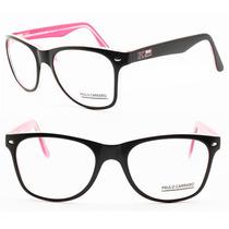 Armação Acetato Paulo Carraro Para Oculos De Grau - 6015