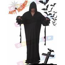 Túnica Da Morte Pânico Adulto Roupa Halloween Com Capuz