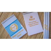 Kit 50 Bloquinho Com Lápis Personalizado + Tag