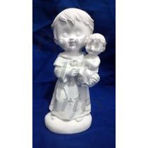 Kit 20 Imagens Santo Antônio Em Gesso Infantil (baby) 15 Cm