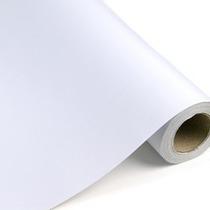 Papel Adesivo Contact Branco Opaco 45 Cm X 10 Metros