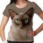 Camiseta Gato Birmanês Feminina