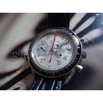 Omega Speedmaster Branco Couro Raro
