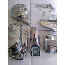 Kit Tampas Para Titan / Fan / 150 / 125 Cromados