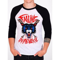 Raglan Falling Reverse Camisetas Regata Moletom Bandas Rock