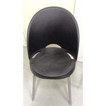 Cadeira Fixa Em Polipropileno Preta