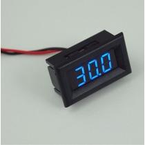 Voltímetro Digital Mini Medidor Bateria Som Auto 2 Fios