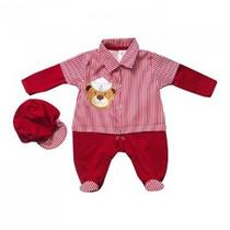 Kit Saída De Maternidade Urso Marinheiro Vermelho - Menino