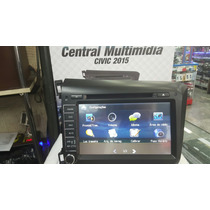 Central Multimidia Honda Civic Preto 2015 Original Gps Tv
