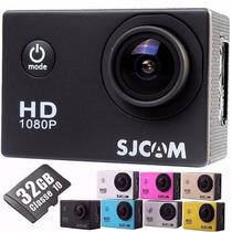 Camera Sjcam Sj4000 Original Filmadora Full Hd + 32gb 1080p