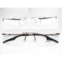 Armacao Óculos Quadrado Para Rosto Redondo Oakley + Brinde