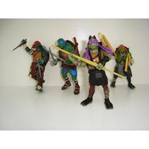 Tartarugas Ninja Filme 4 Bonecos Articulados Frete Grátis
