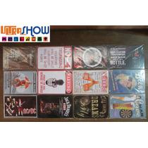 Placa Decorativa Importada Metal 30x20 Vintage Rock Carro 66